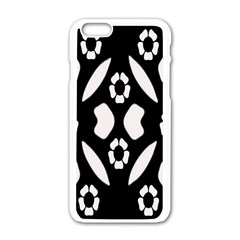 Abstract Background Pattern Apple iPhone 6/6S White Enamel Case