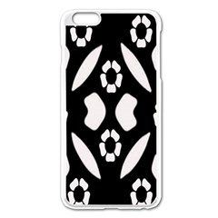 Abstract Background Pattern Apple iPhone 6 Plus/6S Plus Enamel White Case