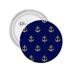 Gold Anchors On Blue Background Pattern 2 25  Buttons