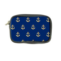 Gold Anchors On Blue Background Pattern Coin Purse