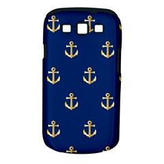 Gold Anchors On Blue Background Pattern Samsung Galaxy S Iii Classic Hardshell Case (pc+silicone)