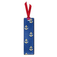 Gold Anchors On Blue Background Pattern Small Book Marks