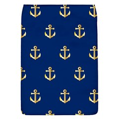 Gold Anchors On Blue Background Pattern Flap Covers (s)