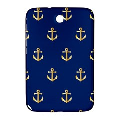 Gold Anchors On Blue Background Pattern Samsung Galaxy Note 8.0 N5100 Hardshell Case