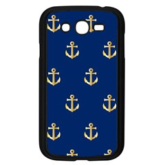 Gold Anchors On Blue Background Pattern Samsung Galaxy Grand DUOS I9082 Case (Black)