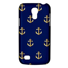 Gold Anchors On Blue Background Pattern Galaxy S4 Mini