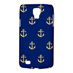 Gold Anchors On Blue Background Pattern Galaxy S4 Active