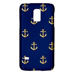 Gold Anchors On Blue Background Pattern Galaxy S5 Mini