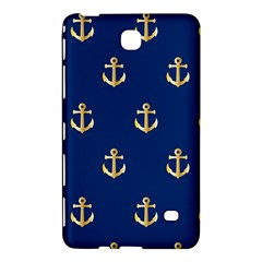 Gold Anchors On Blue Background Pattern Samsung Galaxy Tab 4 (7 ) Hardshell Case