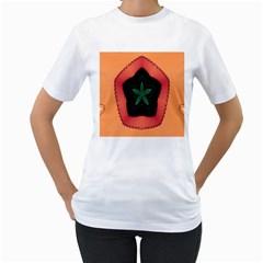 Fractal Flower Women s T Shirt (white) (two Sided)