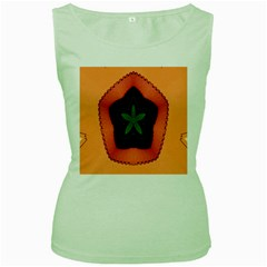 Fractal Flower Women s Green Tank Top