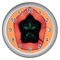 Fractal Flower Wall Clocks (silver)