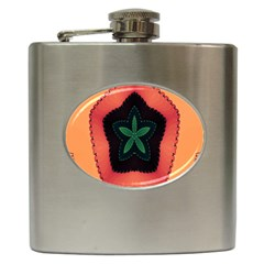 Fractal Flower Hip Flask (6 Oz)