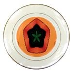 Fractal Flower Porcelain Plates Front