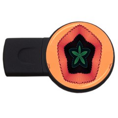 Fractal Flower Usb Flash Drive Round (4 Gb)