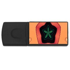 Fractal Flower Usb Flash Drive Rectangular (4 Gb)