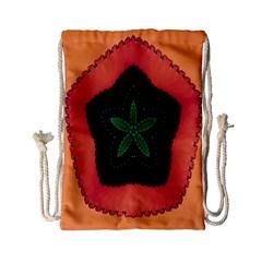 Fractal Flower Drawstring Bag (small)