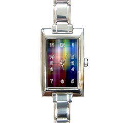 Colorful Abstract Background Rectangle Italian Charm Watch