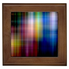 Colorful Abstract Background Framed Tiles