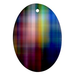 Colorful Abstract Background Ornament (Oval)