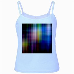 Colorful Abstract Background Baby Blue Spaghetti Tank