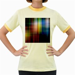 Colorful Abstract Background Women s Fitted Ringer T-Shirts