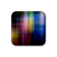 Colorful Abstract Background Rubber Square Coaster (4 Pack)
