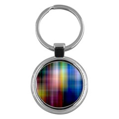 Colorful Abstract Background Key Chains (Round)