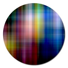 Colorful Abstract Background Magnet 5  (round)