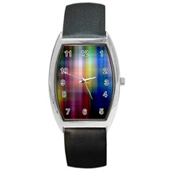 Colorful Abstract Background Barrel Style Metal Watch