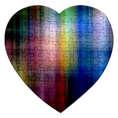 Colorful Abstract Background Jigsaw Puzzle (Heart)