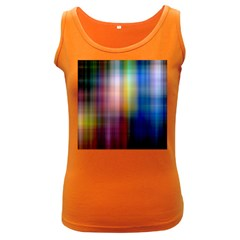 Colorful Abstract Background Women s Dark Tank Top