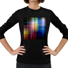 Colorful Abstract Background Women s Long Sleeve Dark T-Shirts