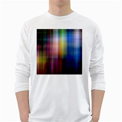 Colorful Abstract Background White Long Sleeve T Shirts