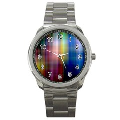 Colorful Abstract Background Sport Metal Watch