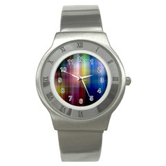 Colorful Abstract Background Stainless Steel Watch