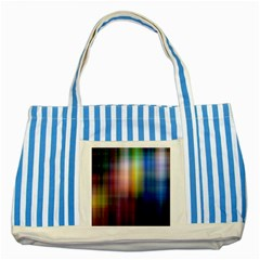 Colorful Abstract Background Striped Blue Tote Bag