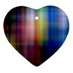 Colorful Abstract Background Heart Ornament (two Sides)
