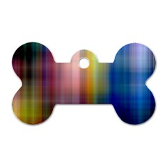Colorful Abstract Background Dog Tag Bone (two Sides)