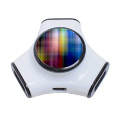 Colorful Abstract Background 3-Port USB Hub