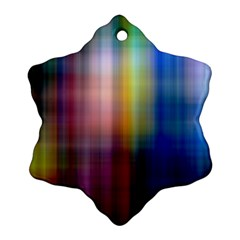 Colorful Abstract Background Ornament (Snowflake)