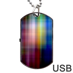 Colorful Abstract Background Dog Tag USB Flash (Two Sides)