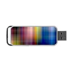 Colorful Abstract Background Portable USB Flash (Two Sides)