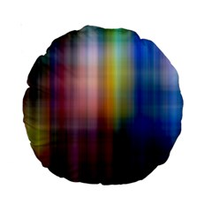 Colorful Abstract Background Standard 15  Premium Round Cushions