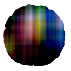 Colorful Abstract Background Large 18  Premium Round Cushions
