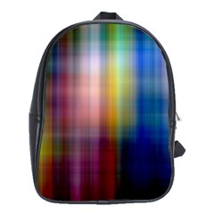 Colorful Abstract Background School Bags (XL)