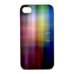 Colorful Abstract Background Apple iPhone 4/4S Hardshell Case with Stand