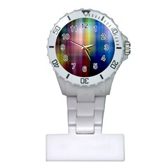 Colorful Abstract Background Plastic Nurses Watch