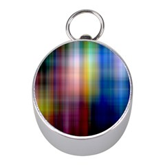 Colorful Abstract Background Mini Silver Compasses