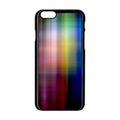 Colorful Abstract Background Apple iPhone 6/6S Black Enamel Case
